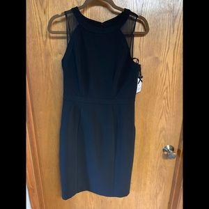 WHBM black sheath dress.